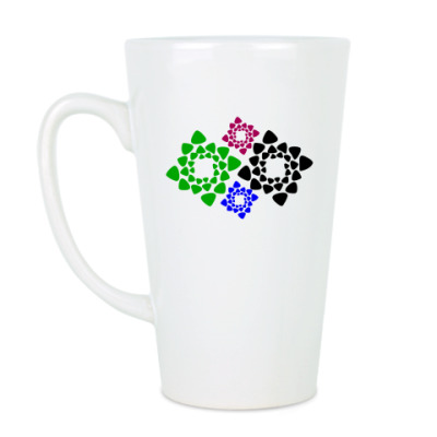 Чашка Латте Абстракция