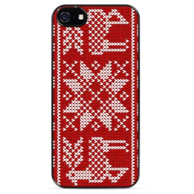 Чехол для iPhone Свитер с оленями
