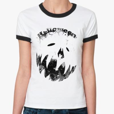 Женская футболка Ringer-T Helloween  Ж()
