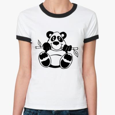 Женская футболка Ringer-T Панда