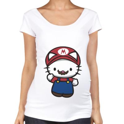 Футболка для беременных Китти Марио