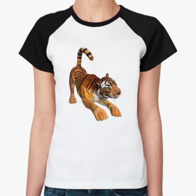 Женская футболка реглан   'Тигр'