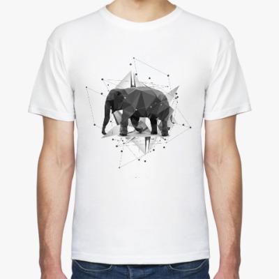 Футболка Геометрический Слон