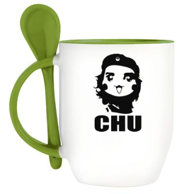 Кружка с ложкой Чу Гевара