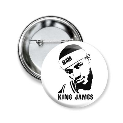 Значок 50мм King James