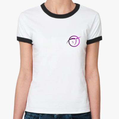 Женская футболка Ringer-T Invisible Pink Unicorn small