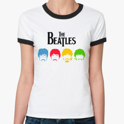Женская футболка Ringer-T Beatles