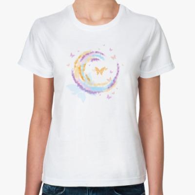 Классическая футболка  'Бабочки'