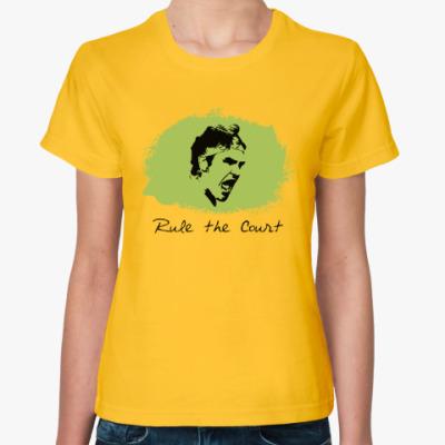 Женская футболка Федерер - Управляй кортом