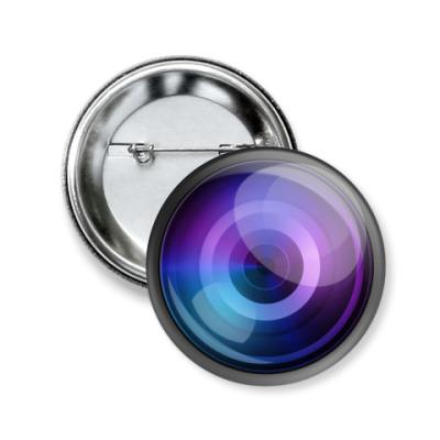 Значок 50мм Объектив камеры
