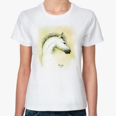 Классическая футболка Весенняя лошадь