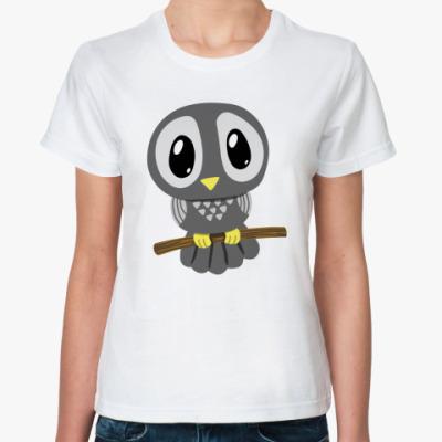 Классическая футболка  «Сова»»