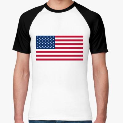 Футболка реглан  Флаг США