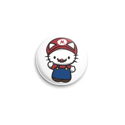 Значок 25мм Китти Марио