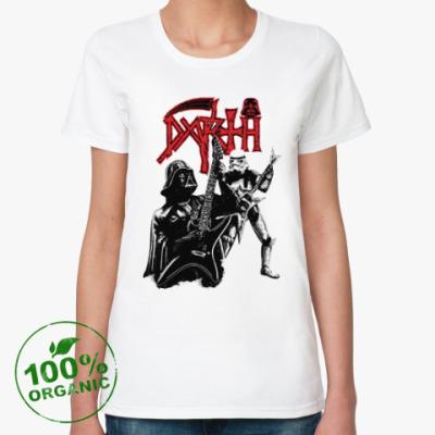 Женская футболка из органик-хлопка Darth Metal