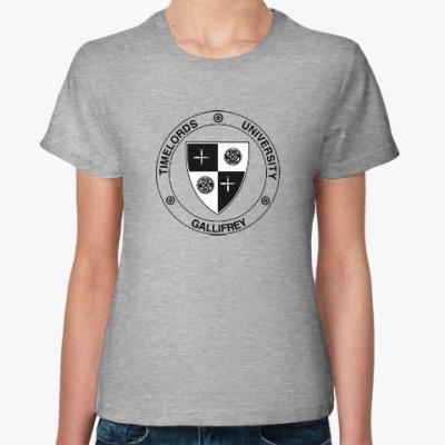 Женская футболка Gallifrey University