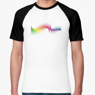 Футболка реглан  'Pixel Rainbow'
