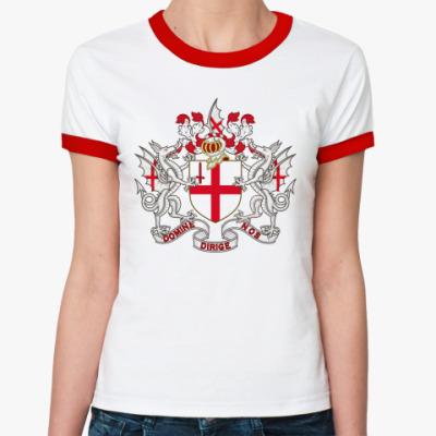 Женская футболка Ringer-T Лондон