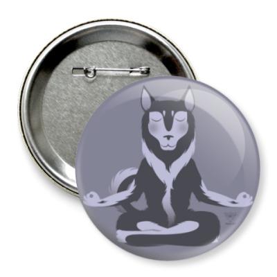 Значок 75мм Animal Zen: H is for Husky