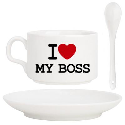 Кофейный набор I Love My Boss