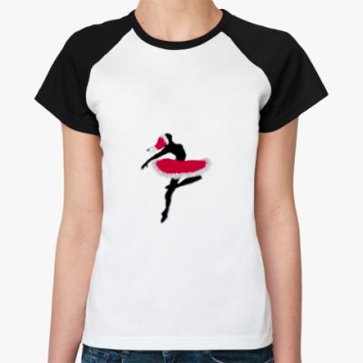Женская футболка реглан Новогодний балет