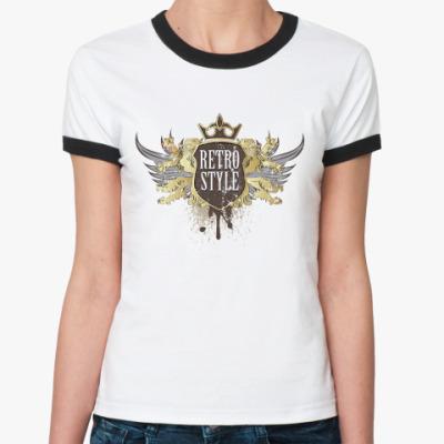 Женская футболка Ringer-T Retro Style