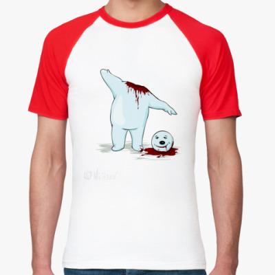Футболка реглан снеговик