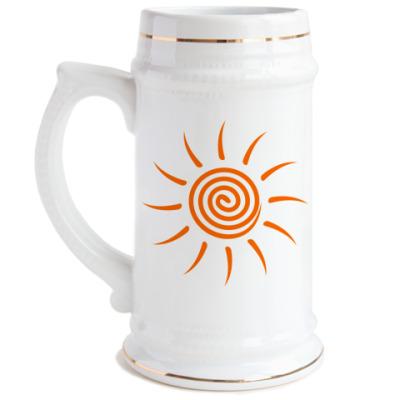 Пивная кружка Солнышко