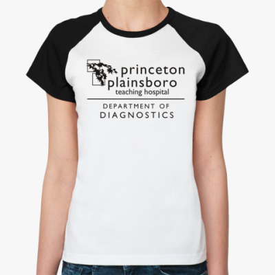 Женская футболка реглан  Princeton plainsboro