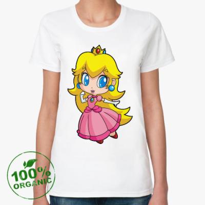 Женская футболка из органик-хлопка Super Mario Princess