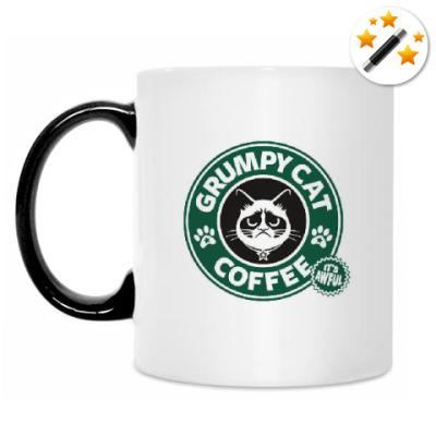 Кружка-хамелеон Grumpy Cat coffee!