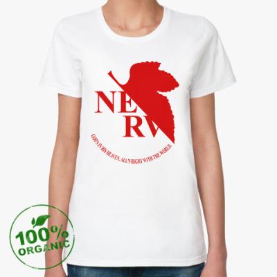 Женская футболка из органик-хлопка Neon Genesis Evangelion NERV