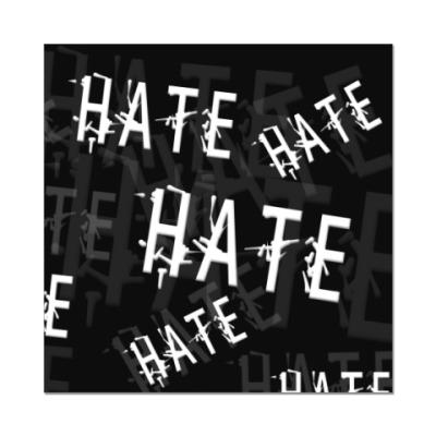 Наклейка (стикер) Ненависть