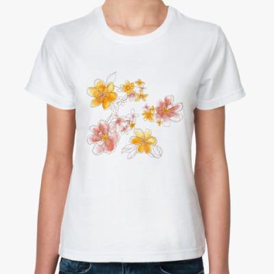 Классическая футболка Цветочная роспись