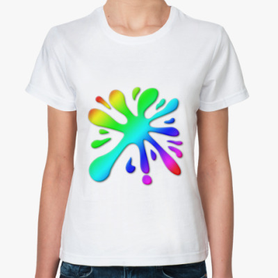 Классическая футболка   'Клякса'