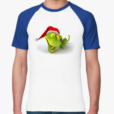 Футболка реглан Зеленая змея