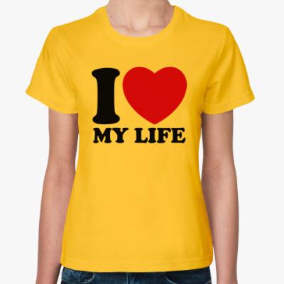 Женская футболка Люблю свою жизнь