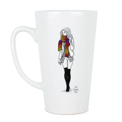 Чашка Латте Ее любимый шарф