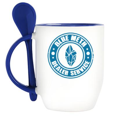 Кружка с ложкой Blue Meth Dealer