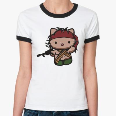 Женская футболка Ringer-T Китти Рэмбо