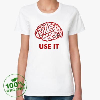 Женская футболка из органик-хлопка Мозг