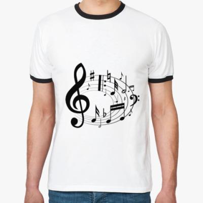 Футболка Ringer-T Музыкальный вихрь