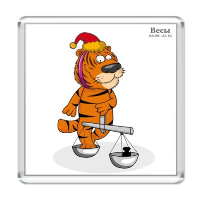 Магнит Новогодний тигр и Весы