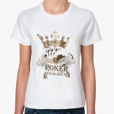 Классическая футболка POKER Legalize