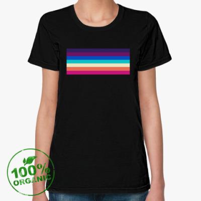 Женская футболка из органик-хлопка Радуга