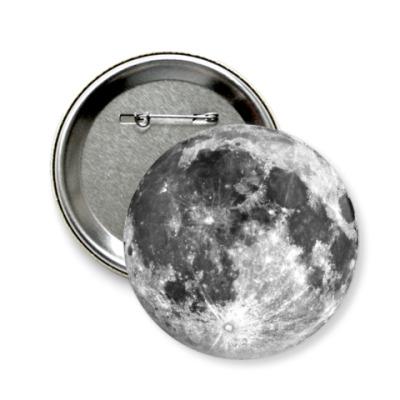 Значок 58мм 'Moon'