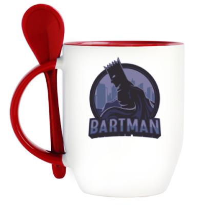 Кружка с ложкой Bartman