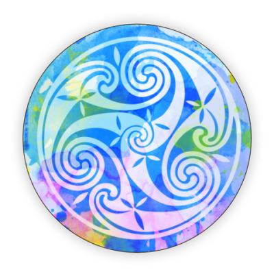 Костер (подставка под кружку) Синий трискель
