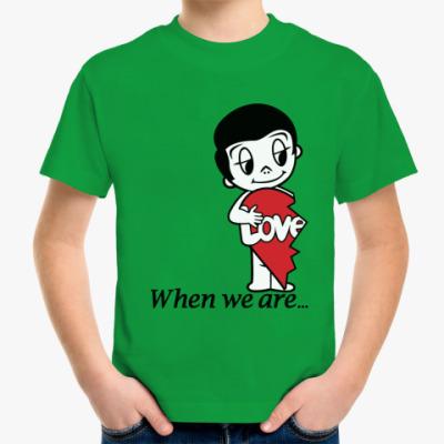 Детская футболка Парная футболка Love is
