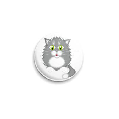 Значок 25мм Котик